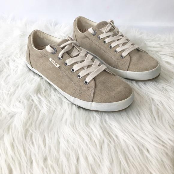 Taos Footwear Star Khaki Washed Canvas